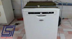 مراحل تعمیر و تست ماشین ظرفشویی ویرپول سری لمسی